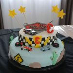 Test decoration gateau cars