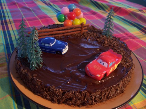 test kit gateau cars
