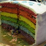 Test gateau rainbow